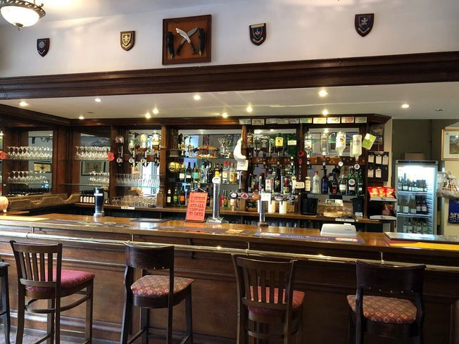 The bar at The Woolaston Inn